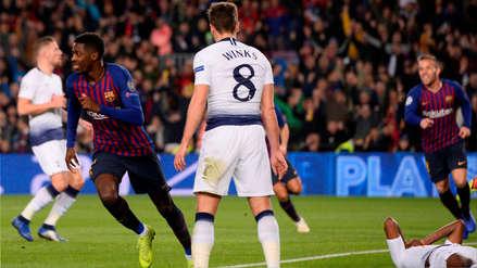 Tottenham rescató un empate ante Barcelona y avanzó en la Champions League