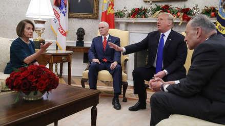 Donald Trump y líderes demócratas tuvieron acalorada discusión ante la prensa en la Casa Blanca