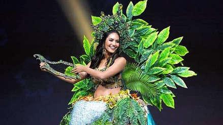 6b1dde731 El llamativo vestido de Romina Lozano está inspirado en una leyenda  amazónica.