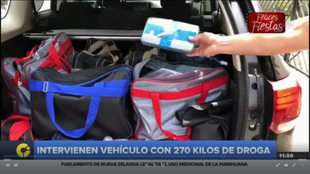 Dirandro intervino dos vehículos con 270 kilos de cocaína en Miraflores