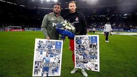 Lokomotiv vs. Schalke04: Jefferson Farfán fue homenajeado por su ex equipo