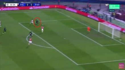 PSG vs. Estrella Roja: la gran jugada de Kylian Mbappé para el gol de Edinson Cavani