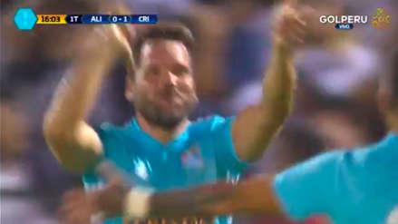 Renzo Revoredo anotó de cabeza en el Alianza - Cristal y celebró como Paolo Guerrero