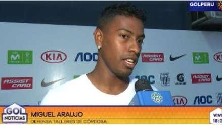 Miguel Araujo llegó alentar a los íntimos: