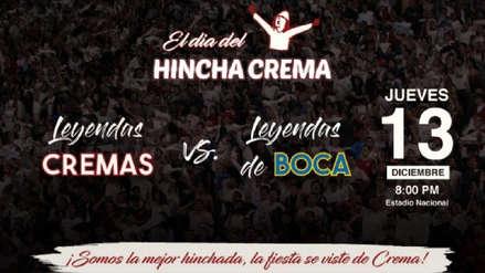 Universitario de Deportes vs. Boca Juniors: día del hincha crema se llevará a cabo este jueves