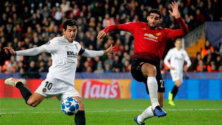 Manchester United cayó ante Valencia y no pudo quedarse con la punta del Grupo H