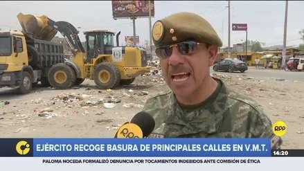 Ejército recogió basura acumulada en las principales calles de Villa María del Triunfo