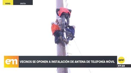 Vecinos de Breña se oponen a la instalación de una antena de telefonía móvil