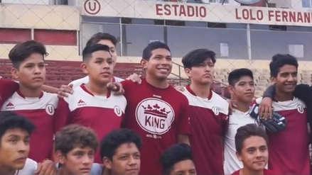 Universitario de Deportes: Edison Flores visitó las divisiones inferiores del club crema