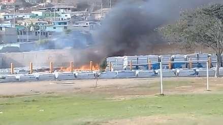 Se incendian 43 módulos de vivienda para damnificados por el Niño Costero en Ascope