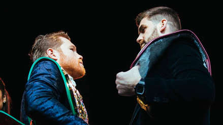 Así fue el tenso careo entre 'Canelo' Álvarez y Rocky Fielding previo a la pelea