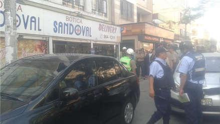 Fotos | Las imágenes del asalto frustrado a una botica en Cercado de Lima