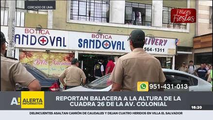 Intento de asalto a botica en la avenida Colonial terminó en balacera
