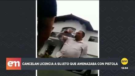 Sucamec canceló licencia a hombre que amenazó con arma a repartidores de comida