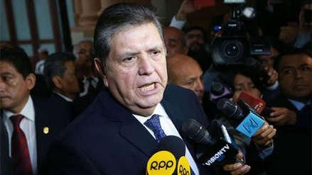Alan García asegura que un fiscal ha archivado una de las investigaciones en su contra