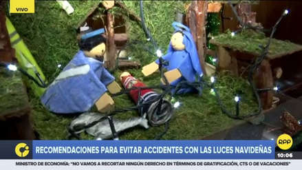 Sigue estas recomendaciones para evitar incidentes con las luces navideñas