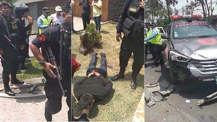 Así fue la captura de los presuntos delincuentes acusados de asaltar un banco en San Borja [VIDEO]