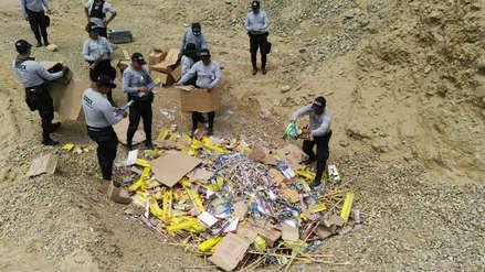 Así se destruyeron tres toneladas de pirotécnicos en Lambayeque (vídeo)