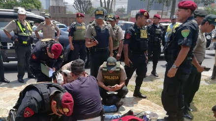 La Policía frustró el asalto a un banco en San Borja y detuvo a tres delincuentes [VIDEO]
