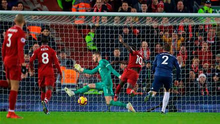 La gran jugada colectiva del Liverpool para ponerse en ventaja ante el Manchester United