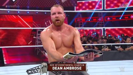 WWE TLC 2018   Dean Ambrose obtiene el Campeonato Intercontinental al derrotar a Seth Rollins