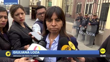 Fiscalía pide comparecencia restringida para abogada de Keiko Fujimori