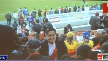Fiscal mostró fotos de César Hinostroza en el Estadio Nacional