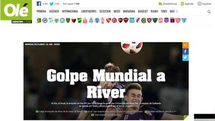 River Plate fue eliminado del Mundial de Clubes: así reaccionó la prensa mundial