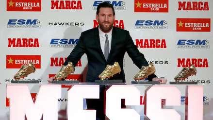 ¡Histórico! Lionel Messi recibió su quinta Bota de Oro como mejor goleador de Europa