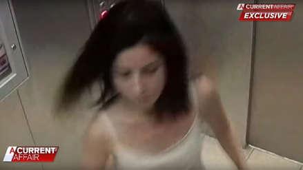 Mujer que denunció a su esposo por maltrato fue captada en video autolesionándose