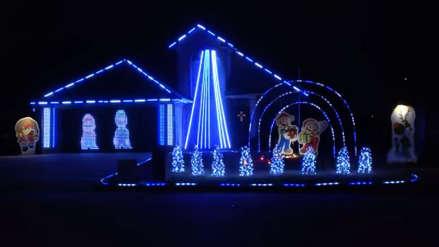 Un fanático de Nintendo sorprende con la decoración navideña de su casa
