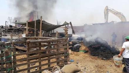 Una fuerte explosión se registró en un taller clandestino de pirotécnicos en Huachipa