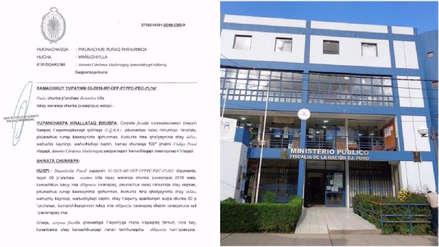 Puno: La Fiscalía emitió primera resolución en quechua