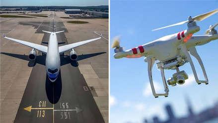Aeropuerto de Londres suspendió todos sus vuelos por la presencia de drones cerca a la pista