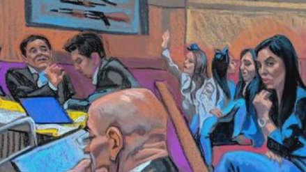 'El Chapo' Guzmán se emocionó durante su juicio al ver a sus hijas gemelas