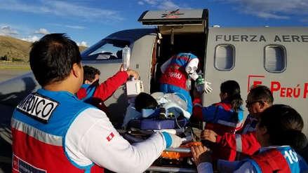 Menor de Amazonas herido por un trinche en la cabeza fue trasladado con éxito a Lima