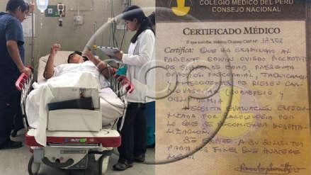 Edwin Oviedo seguirá internado en el Hospital Dos de Mayo por padecer problemas cardíacos