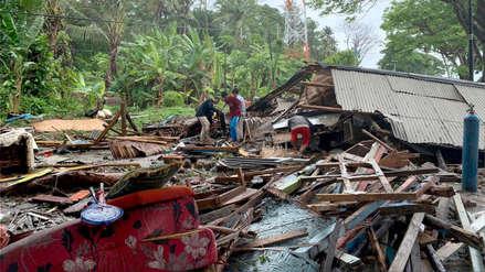 Las primeras imágenes del lugar donde se produjo el trágico tsunami en Indonesia