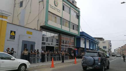 Con un plantón en Trujillo pobladores exigen mayor seguridad policial para Ascope
