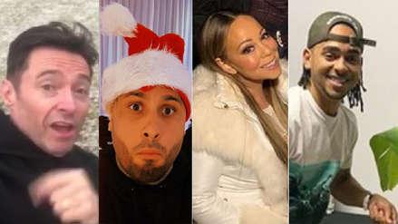 Así celebraron Hugh Jackman, Mon Laferte, Mariah Carey y otros famosos la Navidad [FOTOS]