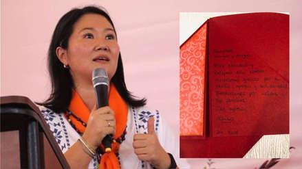 Keiko Fujimori envió mensaje navideño a sus seguidores desde el penal