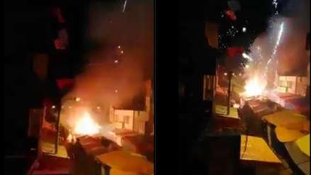 Uso de pirotécnicos provocó incendio que arrasó con feria navideña y afectó edificios en Juliaca
