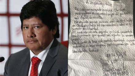 Edwin Oviedo dice que en Chiclayo se jugará