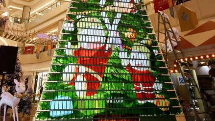 Xiaomi rompe récord mundial con un árbol de Navidad armado con celulares