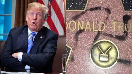 Un hombre va preso por pintar esvástica sobre la estrella de Trump en Hollywood
