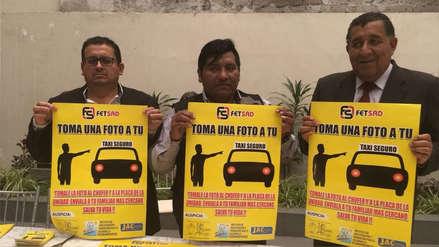 Arequipa: Lanzan campaña para acabar con asaltos y violaciones en taxis