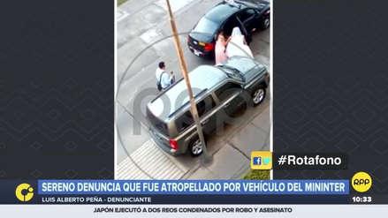 Hombre denunció que fue atropellado por un automóvil del Mininter que transportaba a una novia