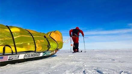 Colin O'Brady, el primer hombre en la historia en cruzar solo, a pie y sin ayuda la Antártida [FOTOS]