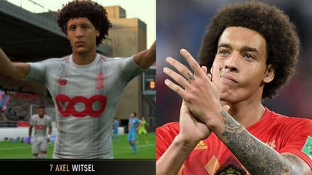 """Axel Witsel pidió a EA Sports que """"arreglen"""" su cara en FIFA 19"""