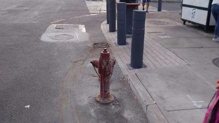 Hidrante que quedó en plena avenida Javier Prado será reubicado por Sedapal